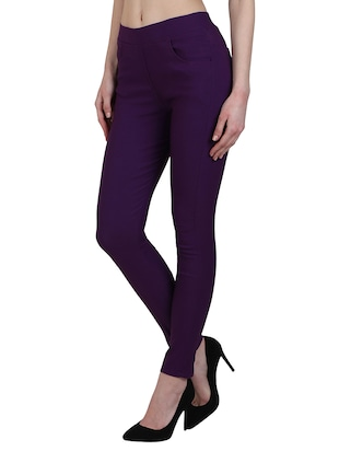 high waist solid jegging - 15340985 - Standard Image - 2