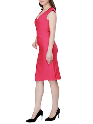 Solid sheath dress - 15341889 - Standard Image - 2
