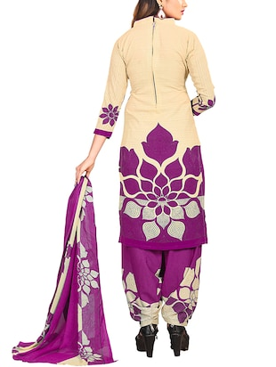 multi colored unstitched combo suit - 15344617 - Standard Image - 5