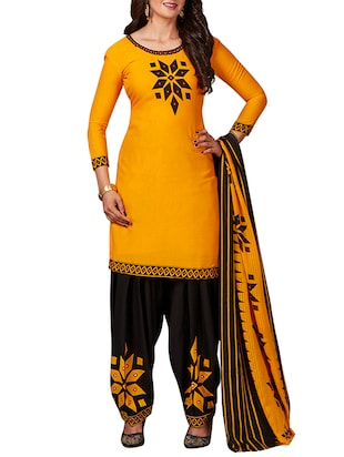 multi colored unstitched combo suit - 15344625 - Standard Image - 2