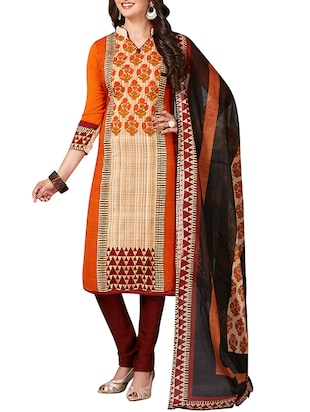 multi colored unstitched combo suit - 15344629 - Standard Image - 2