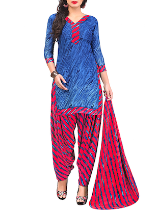multi colored unstitched combo suit - 15344643 - Standard Image - 2