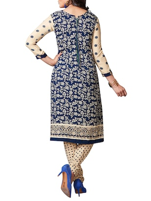 multi colored unstitched combo suit - 15344643 - Standard Image - 5