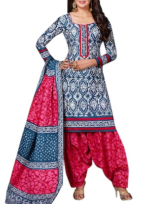 multi colored unstitched combo suit - 15344654 - Standard Image - 2