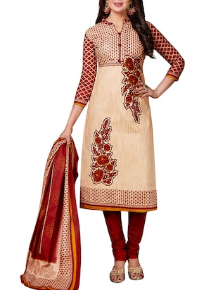 multi colored unstitched combo suit - 15344676 - Standard Image - 2