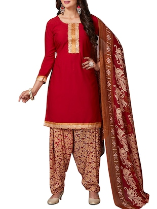 multi colored unstitched combo suit - 15344679 - Standard Image - 2