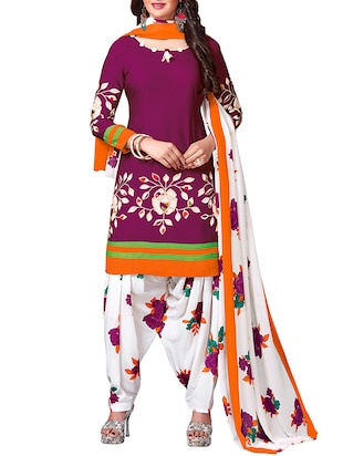 multi colored unstitched combo suit - 15344691 - Standard Image - 2