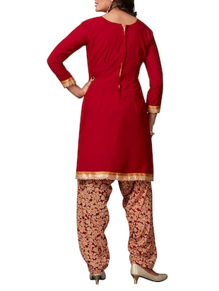 multi colored unstitched combo suit - 15344697 - Standard Image - 5