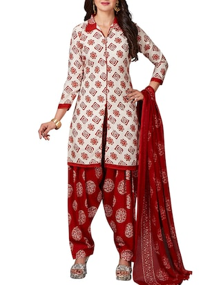 multi colored unstitched combo suit - 15344713 - Standard Image - 2
