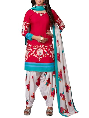 multi colored unstitched combo suit - 15344718 - Standard Image - 2
