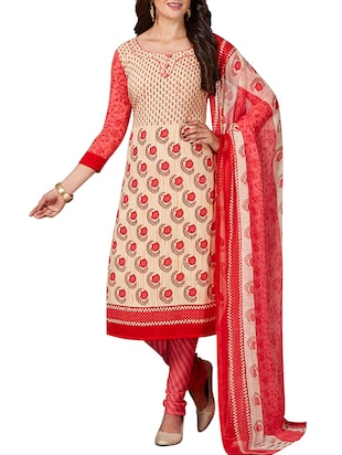 multi colored unstitched combo suit - 15344720 - Standard Image - 2