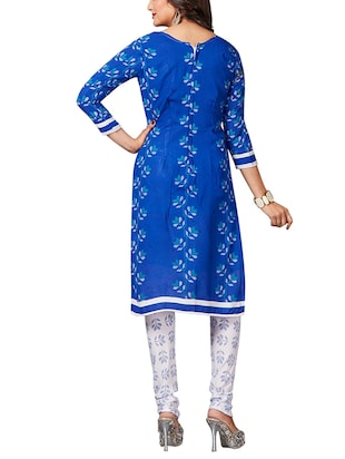multi colored unstitched combo suit - 15344734 - Standard Image - 5