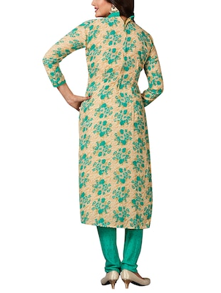 multi colored unstitched combo suit - 15344746 - Standard Image - 5