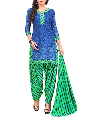 multi colored unstitched combo suit - 15344756 - Standard Image - 2