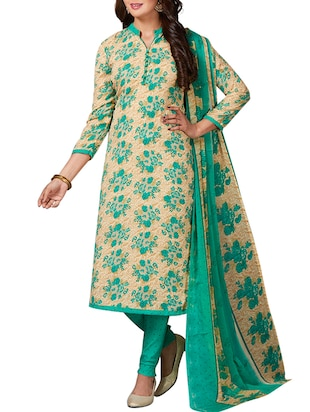 multi colored unstitched combo suit - 15344758 - Standard Image - 2