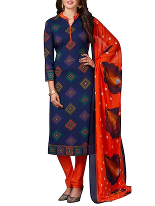 multi colored unstitched combo suit - 15344791 - Standard Image - 2