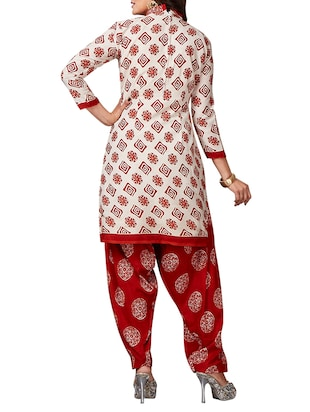 multi colored unstitched combo suit - 15344791 - Standard Image - 5