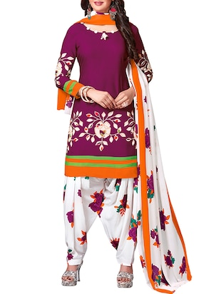 multi colored unstitched combo suit - 15344797 - Standard Image - 2