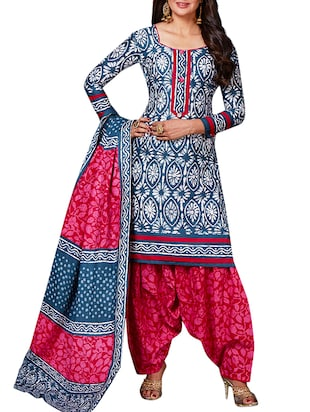 multi colored unstitched combo suit - 15344815 - Standard Image - 2