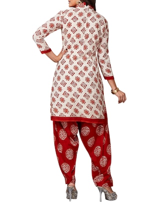 multi colored unstitched combo suit - 15344815 - Standard Image - 5