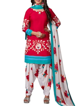 multi colored unstitched combo suit - 15344843 - Standard Image - 2