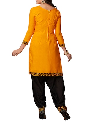 multi colored unstitched combo suit - 15344843 - Standard Image - 5