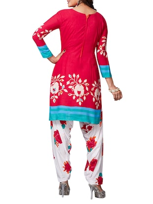 multi colored unstitched combo suit - 15344886 - Standard Image - 5