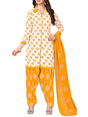 multi colored unstitched combo suit - 15344901 - Standard Image - 2