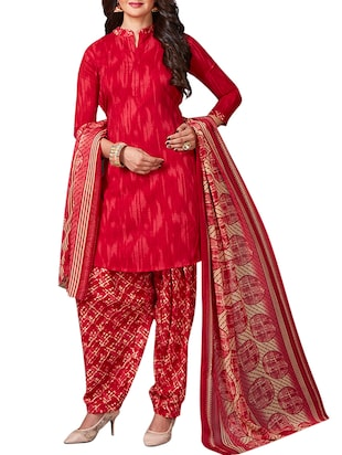 multi colored unstitched combo suit - 15344909 - Standard Image - 2