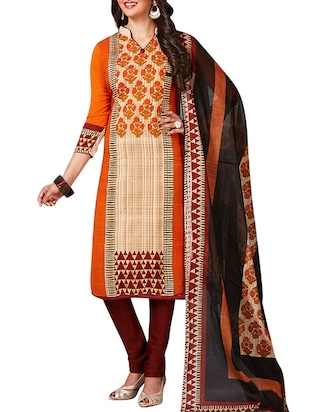 multi colored unstitched combo suit - 15344927 - Standard Image - 2