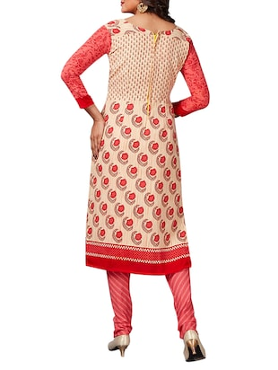 multi colored unstitched combo suit - 15344927 - Standard Image - 5