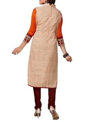multi colored unstitched combo suit - 15344936 - Standard Image - 5