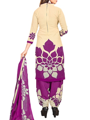 multi colored unstitched combo suit - 15344942 - Standard Image - 5