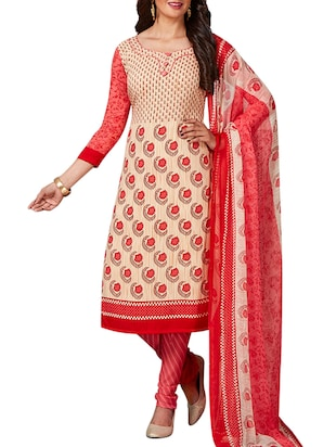 multi colored unstitched combo suit - 15345005 - Standard Image - 2