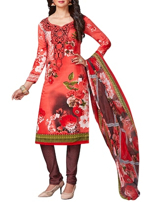 multi colored unstitched combo suit - 15345011 - Standard Image - 2