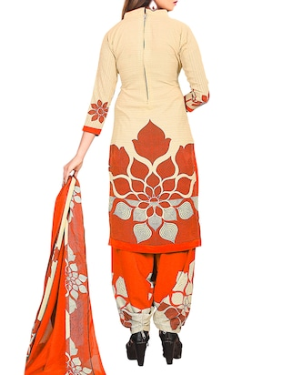 multi colored unstitched combo suit - 15345019 - Standard Image - 5