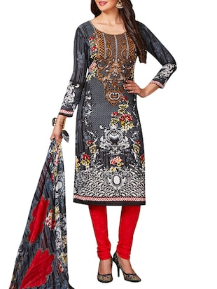 multi colored unstitched combo suit - 15345040 - Standard Image - 2