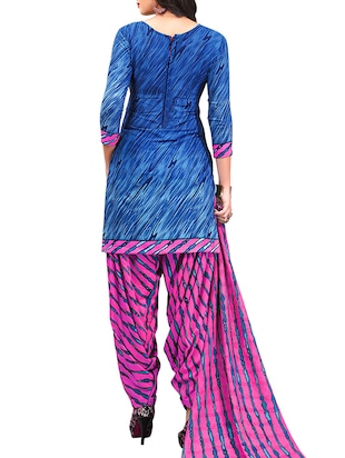 multi colored unstitched combo suit - 15345040 - Standard Image - 5
