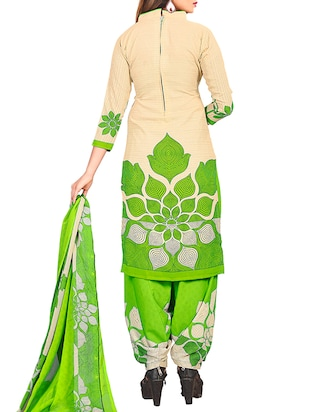 multi colored unstitched combo suit - 15345067 - Standard Image - 5