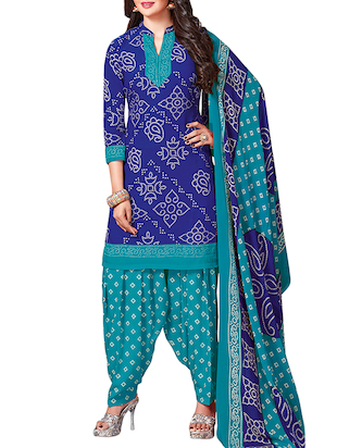 multi colored unstitched combo suit - 15345074 - Standard Image - 2
