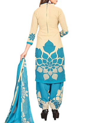 multi colored unstitched combo suit - 15345075 - Standard Image - 5