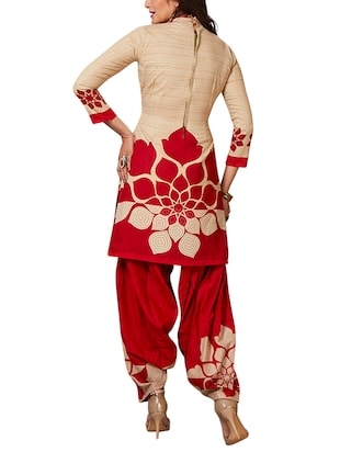 multi colored unstitched combo suit - 15345081 - Standard Image - 5