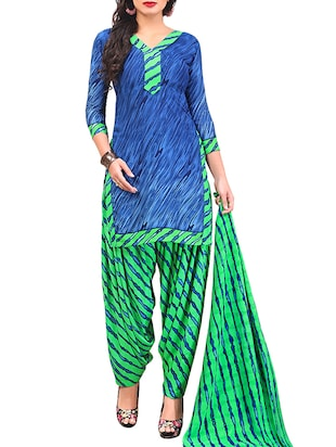 multi colored unstitched combo suit - 15345094 - Standard Image - 2