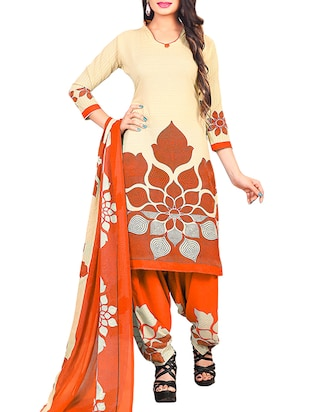 multi colored unstitched combo suit - 15345106 - Standard Image - 2