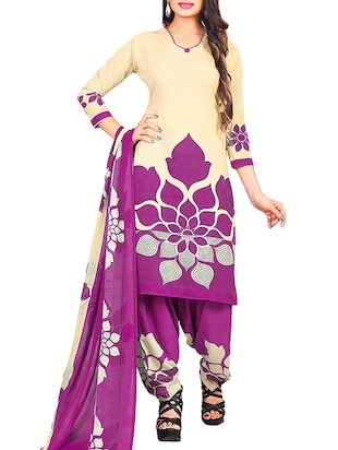 multi colored unstitched combo suit - 15345113 - Standard Image - 2