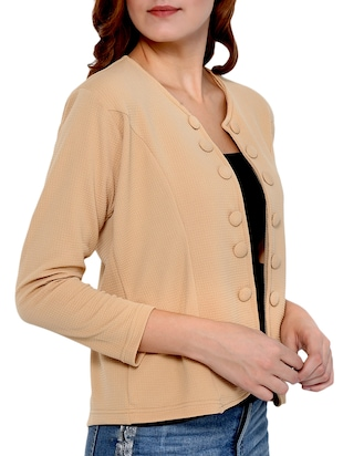 Button detail summer jacket - 15345131 - Standard Image - 2