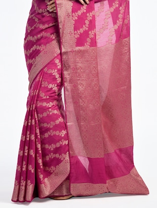 Zari Work Banarasi Saree with blouse - 15345778 - Standard Image - 2