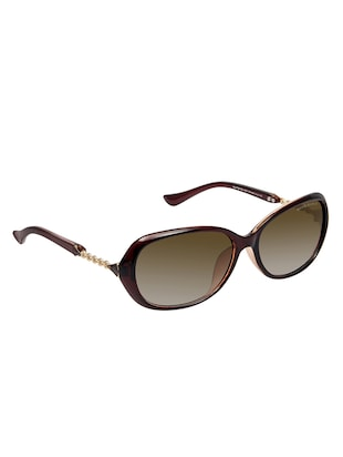 David Blake Brown Oval Gradient, UV Protected Sunglass - 15347047 - Standard Image - 2