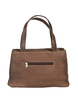 brown leatherette (pu) regular handbag - 15347260 - Standard Image - 2