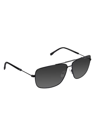 David Blake Grey Rectangular Gradient, Polarised & UV Protected Sunglass - 15347399 - Standard Image - 2